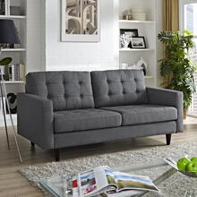 See Details - Empress Upholstered Fabric Loveseat in Gray
