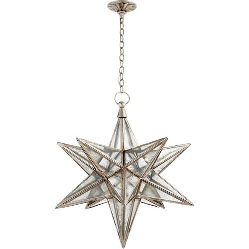 Visual Comfort CHC5212BSL-AM E. F. Chapman Moravian Star 1 Light 30 inch Burnished Silver Leaf Pendant Ceiling Light