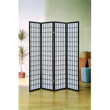 7033 BLACK 4-Panel Room Divider