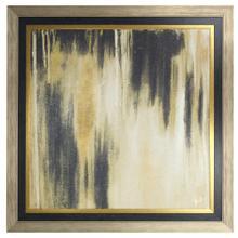 See Details - Gold Passage II Textured Print Custom Framed