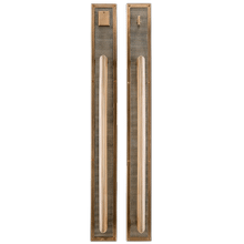 """View Product - Flute Push/Pull Set - 3 1/2"""" x 33 7/8"""" Silicon Bronze Brushed"""