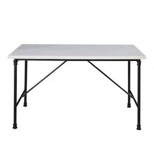 Claire 54 inch White Marble Top Dining Table