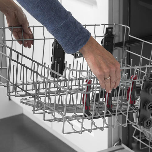 "GE 24"" Built-In Hidden Control Dishwasher White with Tall Tub - GDT605PGMWW"
