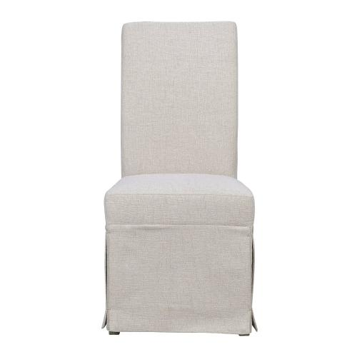 Emerald Home Paladin Parsons Chair Beige Upholstered-setup D350-22-39