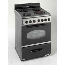 """See Details - Model ER2402CSS - 24"""" Electric Range - Stainless Steel"""
