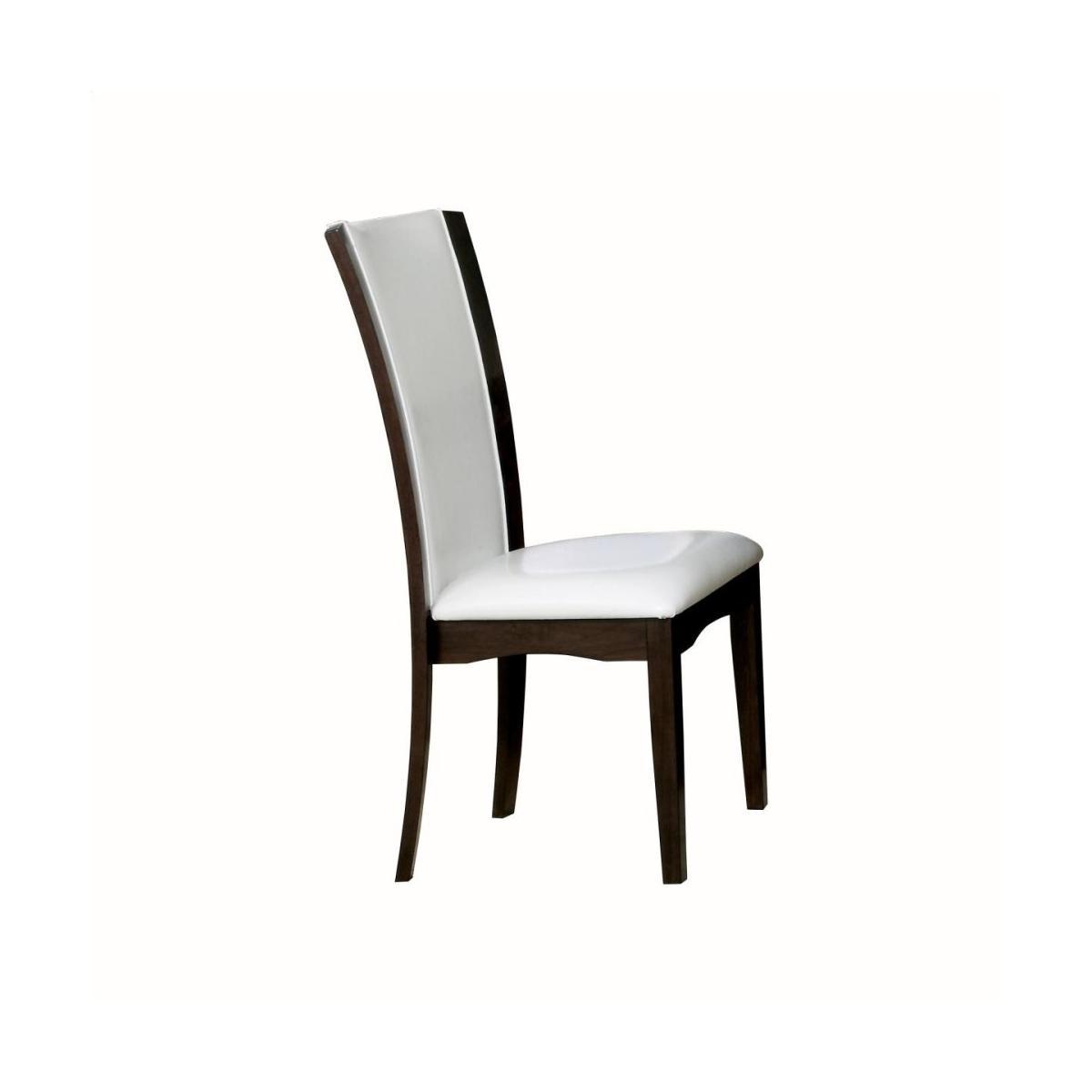 Counter Height Chair, White Bi-Cast Vinyl