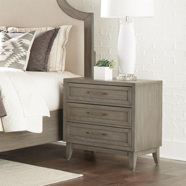See Details - Vogue - Three Drawer Nightstand - Gray Wash Finish