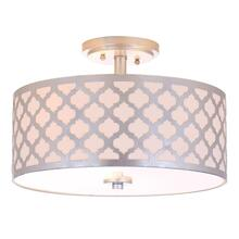 Kora 3 Light 15-inch Dia Silver Flush Mount - Silver