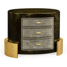 Small oval chest of drawers