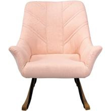 See Details - Hanover Nara Rocking Chair in Pink with Rubberwood Rocker Rails, HUP303-PINK