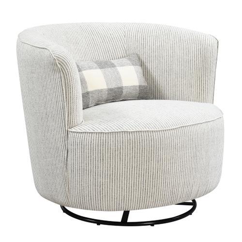 Benzley Swivel Glider Chair W/ 1 Kidney Pillow