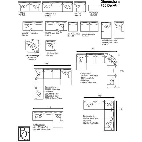 Braxton Culler Inc - Bel-Air 2-Piece Sectional