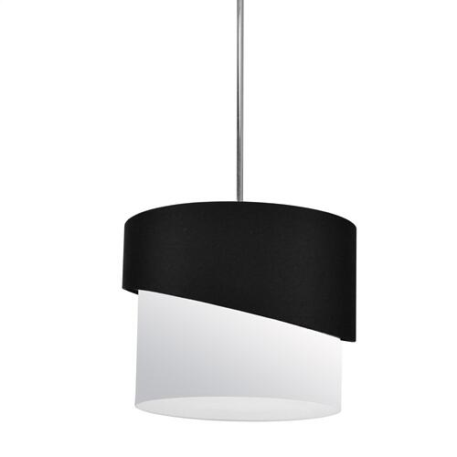 1lt Jazlynn Pendant, Black/white Shade W/ 790 Diff