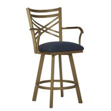 See Details - Raleigh B509H26AS Swivel Back And Arms Bar Stool