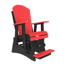 See Details - 2 Adirondack Balcony Glider Chair, Red-black