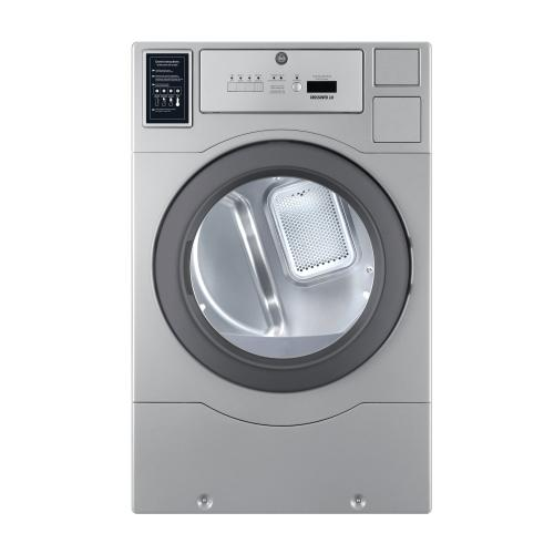 Crossover True Commercial Laundry - 7.0 CF Heavy Duty Top Control Gas Dryer, Coin Option Included/Card Ready, Silver, 27""
