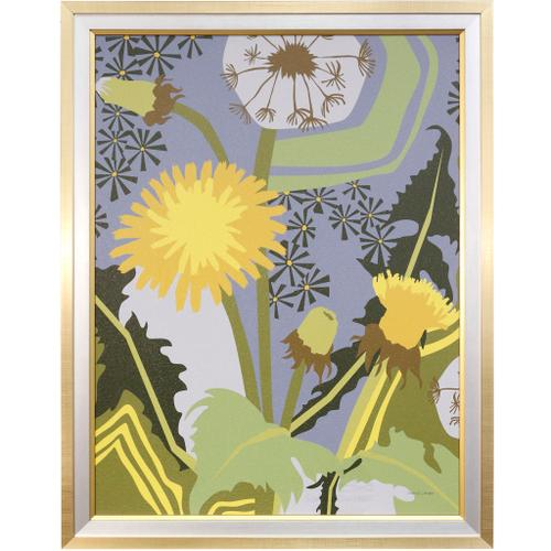 Style Craft - DANDELION  35in w X 45in ht  Textured Framed Print  Made in USA