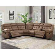 Anastasia 3-Piece Manual Reclining Sectional Product Image