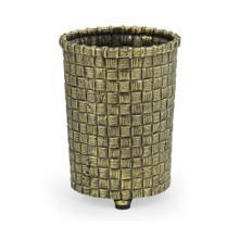 Woven Light Antique Brass Pencil Cup