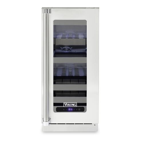 """15""""W. Stainless Steel Interior Undercounter Beverage Center - VUBV Viking Professional Product Line"""