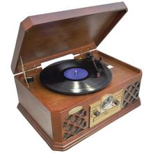Retro Style Turntable with Bluetooth® CD Player & Cassette Deck