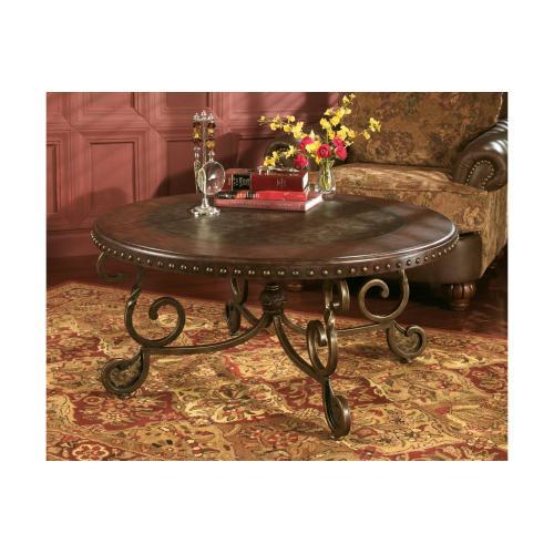 Rafferty Round Cocktail Table Dark Brown