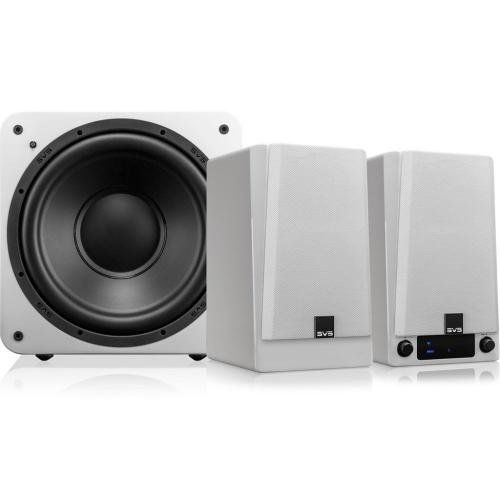 Prime Wireless 2.1 Powered Speaker System - Premium Black Ash