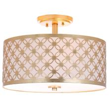 See Details - Hutch 3 Light 16-inch Dia Gold Flush Mount - Gold