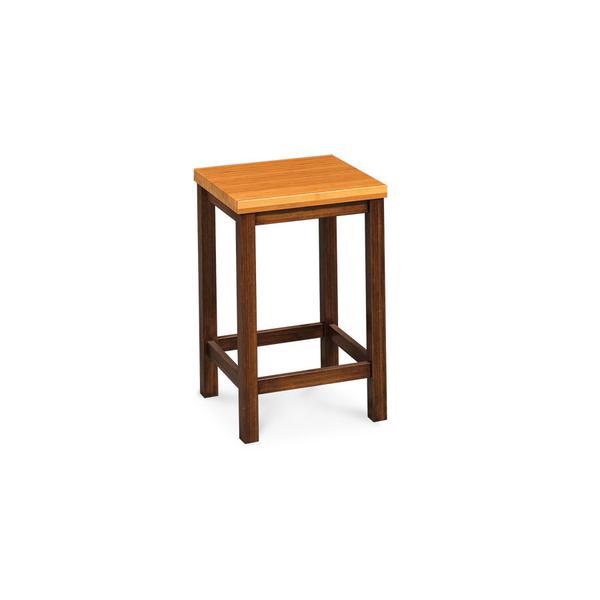 "Community Backless Barstool, 24""h, Wood Seat"