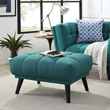 See Details - Bestow Upholstered Fabric Ottoman in Teal