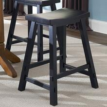 View Product - 24 Inch Sawhorse Counter Stool - Black (RTA)