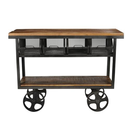 Classic Home - Asher Industrial Cart