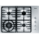 MieleMiele KM 3465 G - Gas cooktop with a dual wok burner for particularly wide ranging burner capacity.