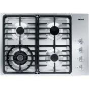 KM 3465 G - Gas cooktop with a dual wok burner for particularly wide ranging burner capacity.