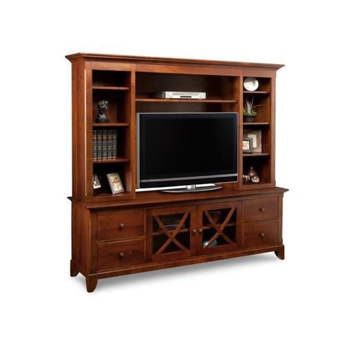 """Handstone - Florence 83"""" HDTV Cabinet with Hutch"""
