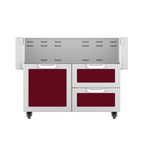 """Hestan - 42"""" Hestan Outdoor Tower Cart with Door/Drawer Combo - GCR Series - Tin-roof"""