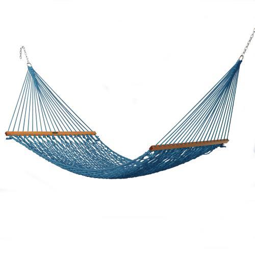 Pawleys Island Hammocks - Single Original Duracord Rope Hammock - Coastal Blue