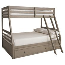 Twin Over Full Bunk Bed with Ladder and Storage Drawer