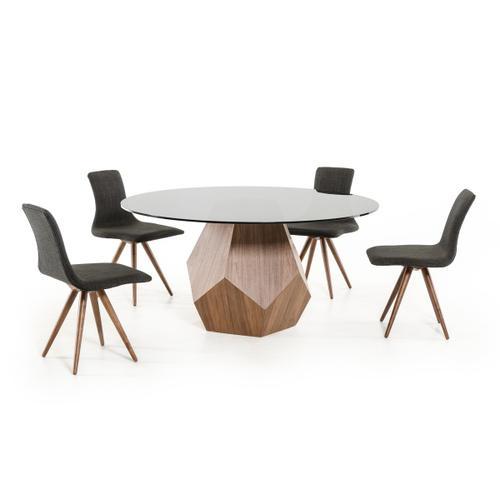 Modrest Rackham Modern Walnut Round Dining Table