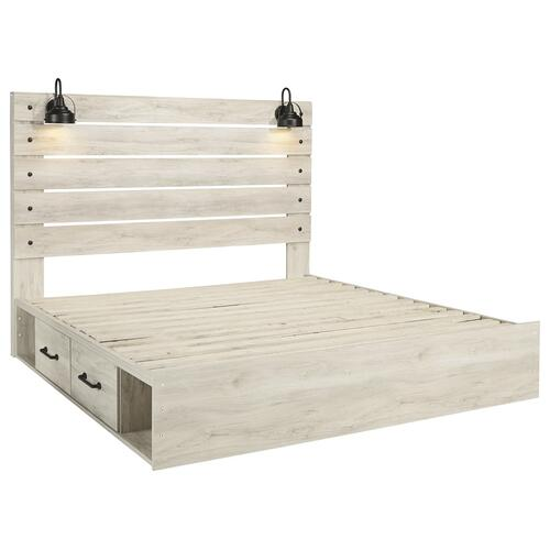 Signature Design By Ashley - Cambeck King Panel Bed With 4 Storage Drawers