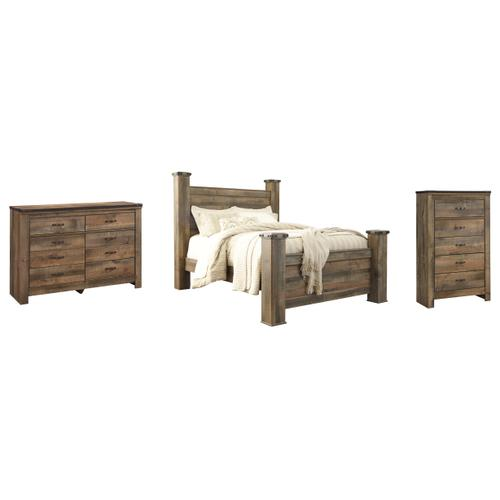 Ashley - Queen Poster Bed With Dresser and Chest