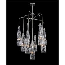 Art Glass Nine-Light Chandelier