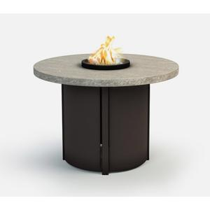 """36"""" Round Chat Fire Pit Ht: 24.5"""" Nova Aluminum Base (Indicate Top & Frame Color)"""