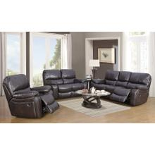 Ramsey Brown Leather-Like Reclining Loveseat, M6013