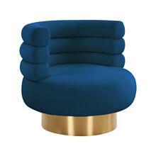 View Product - Naomi Navy Velvet Swivel Chair
