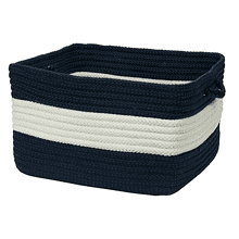 "Rope Walk Basket CB99 Navy 14"" X 10"""