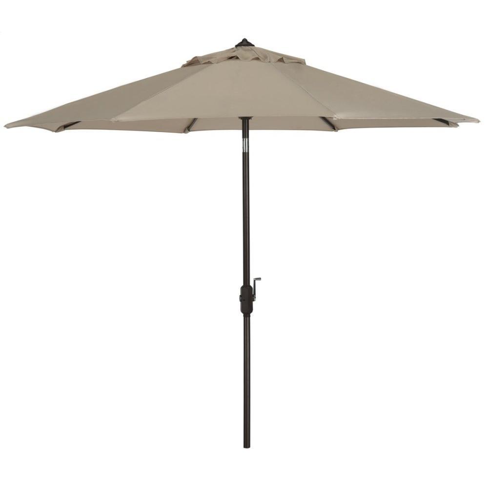 Ortega 9 Ft Auto Tilt Crank Umbrella - Beige