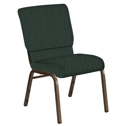 Flash Furniture - 18.5''W Church Chair in Grace Spruce Fabric - Gold Vein Frame
