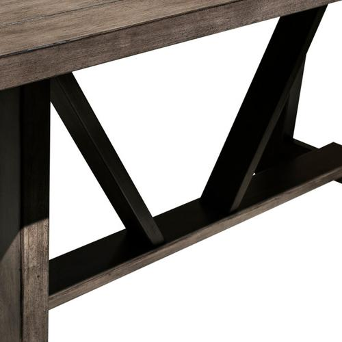 Farmhouse Trestle Style Dining Table - Carbon