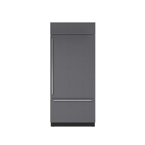 """Sub-Zero - 36"""" Built-In Over-and-Under Refrigerator/Freezer with Internal Dispenser - Panel Ready"""